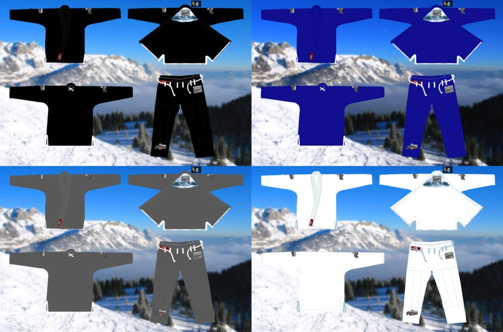 Winter Camp 2017 travel gi custom design all colors