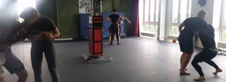 David's wrestling class.