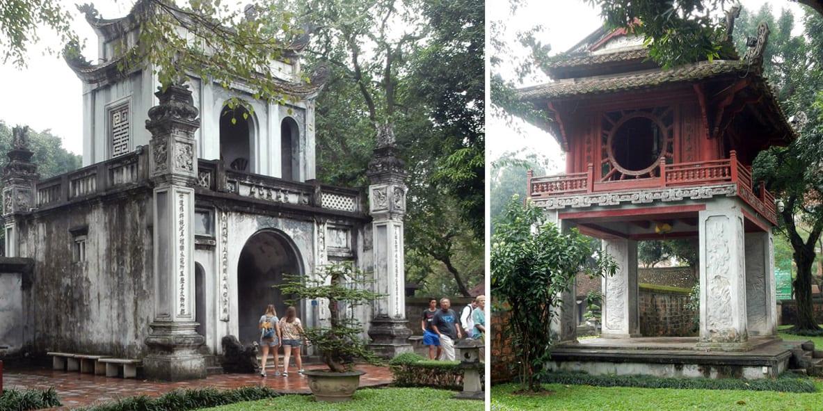 Hanoi, Vietnam: gates at the Temple of Literature