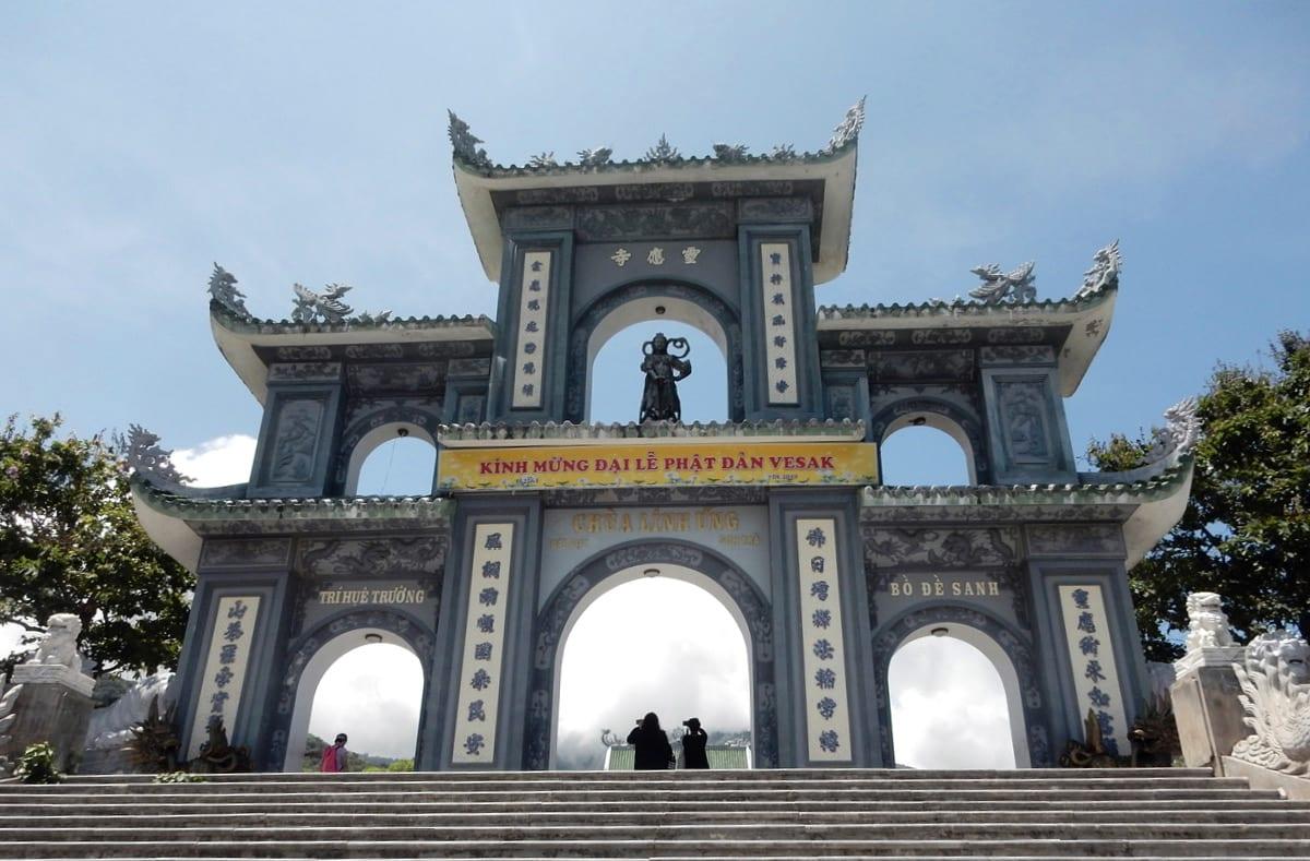 DaNang, Vietnam: Gate near Chùa Linh Ứng area