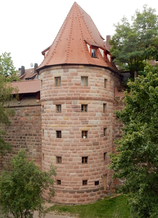 Nuremberg, Germany: Tower at the Imperial Castle of Nuremberg