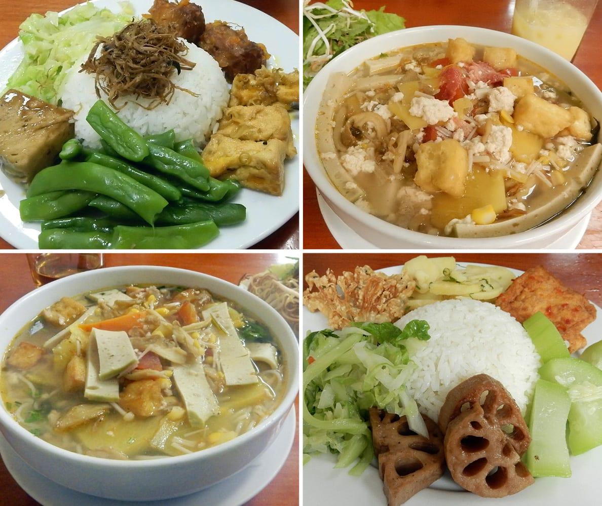 Hanoi, Vietnam: vegetarian food at Tinh Tam's