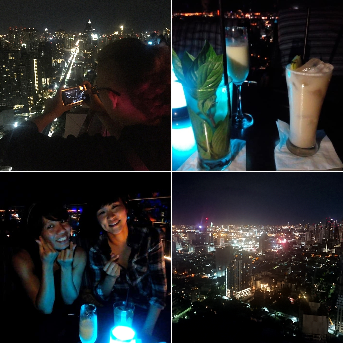 Bangkok, Thailand: Rooftop bar with amazing city views!